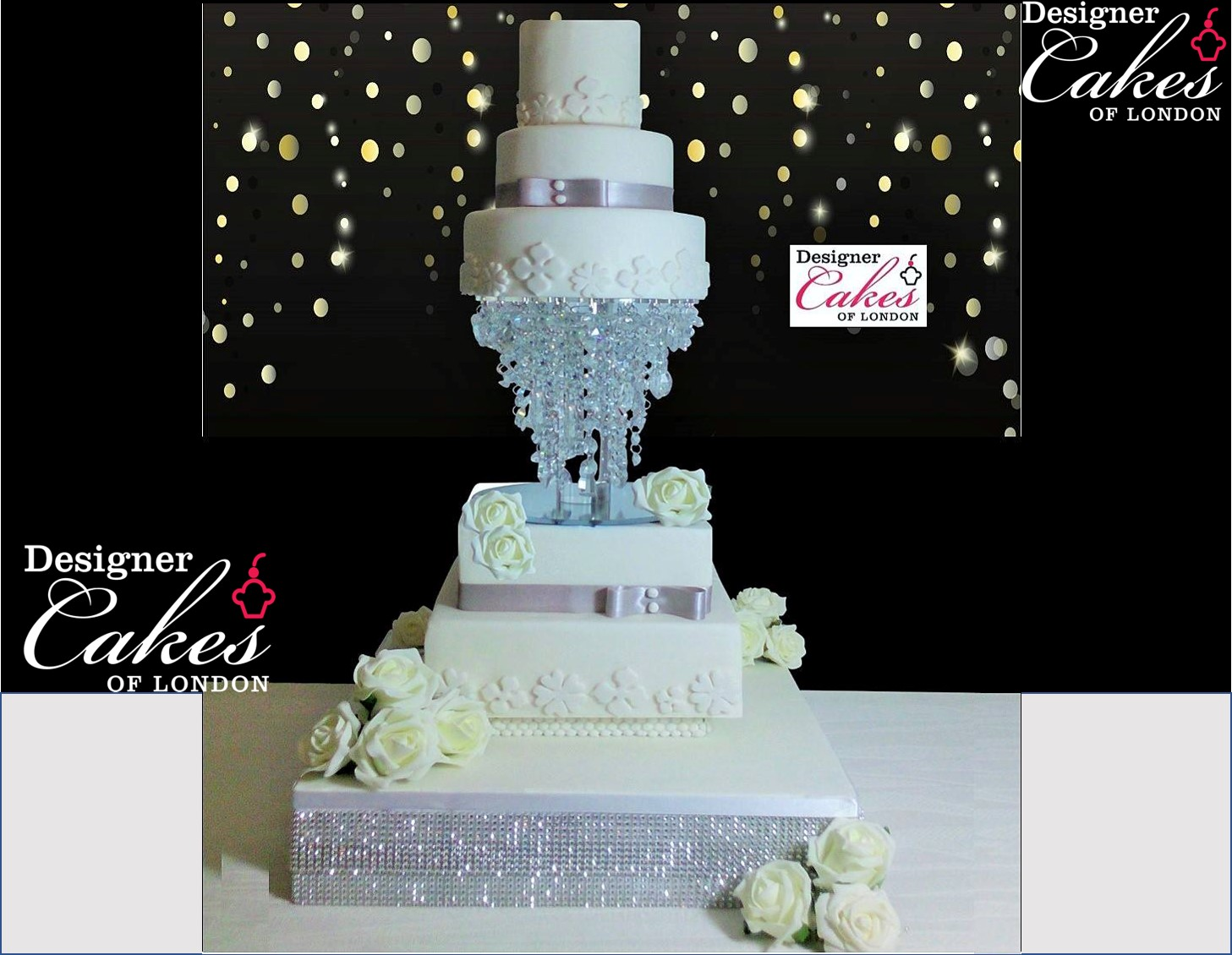 Ellie lace effect with diamonte trim separator Asian
