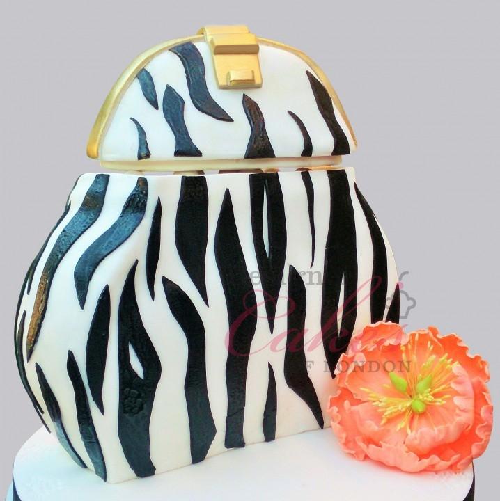 Zebra Bag Cake