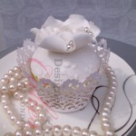 Designer wedding cupcake