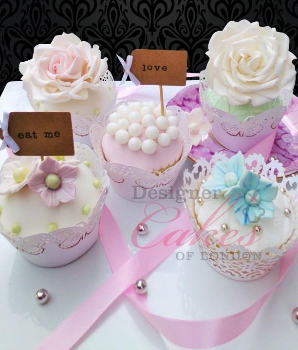 Hydrangeas Wedding Cupcakes