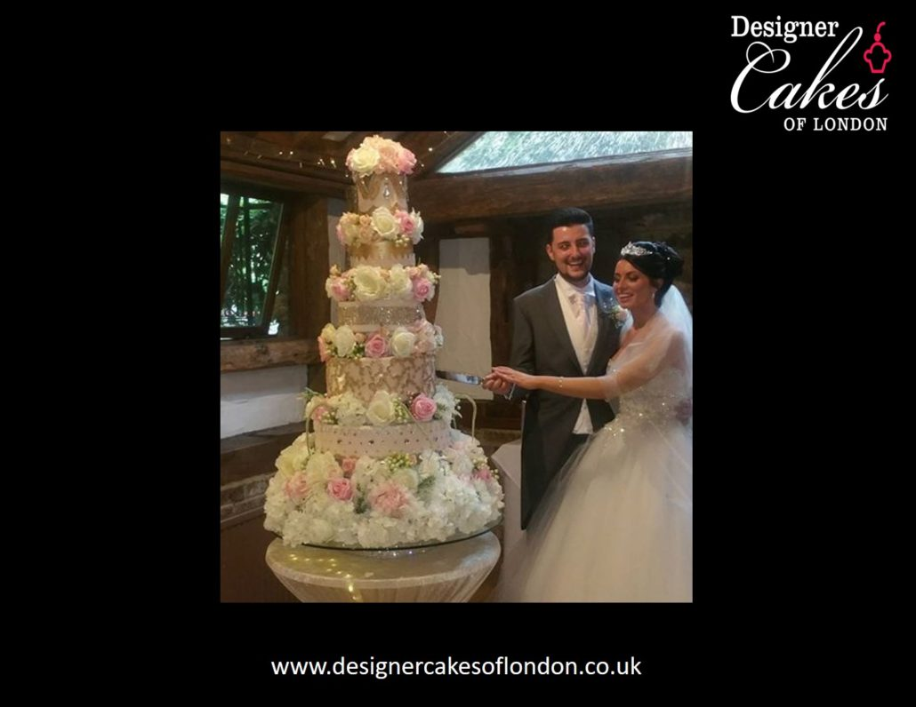 Vivienne Luxury Wedding Cakes London Tall wedding cake