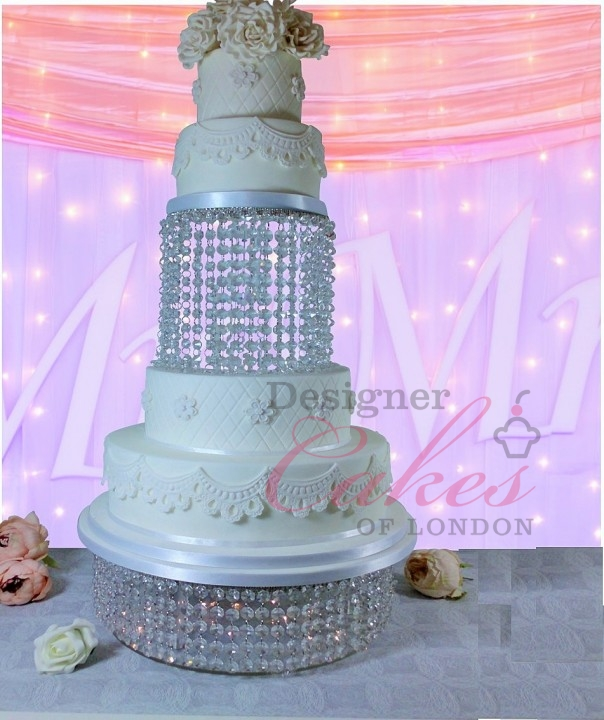 wedding cake stand hire london eleana chandelier waterfall cake stand asian 25624