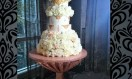 Morroc – Chandelier Crystal Waterfall  cake  stand. Asian Wedding Cake. Luxury Wedding Cakes London