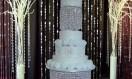 Lucinda – Chandelier Crystal Waterfall  cake  stand. Asian Wedding Cake. Luxury Wedding Cakes London