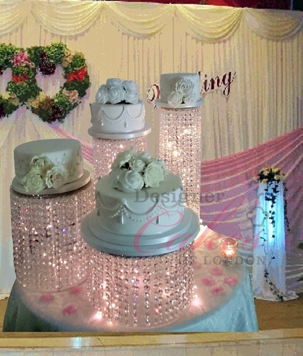 how big should a wedding cake stand be chandelier waterfall cake wedding stand hire 15359