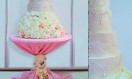 Luscious – Chandelier Crystal Waterfall cake stand. Asian Wedding Cake. Luxury Wedding Cakes London