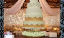 Goldelle – Luxury Wedding Cakes London – Chandelier Crystal Waterfall  cake  stand. Asian Wedding Cake.