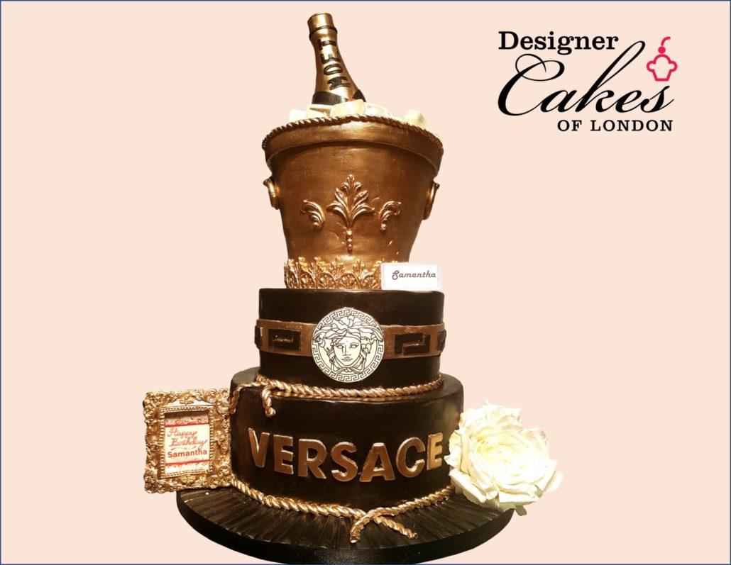 Versace Birthday Cake Bespoke Birthday Cake London Cake Designer